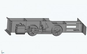 CAD-Modell-Entwurf des Fahrwerks
